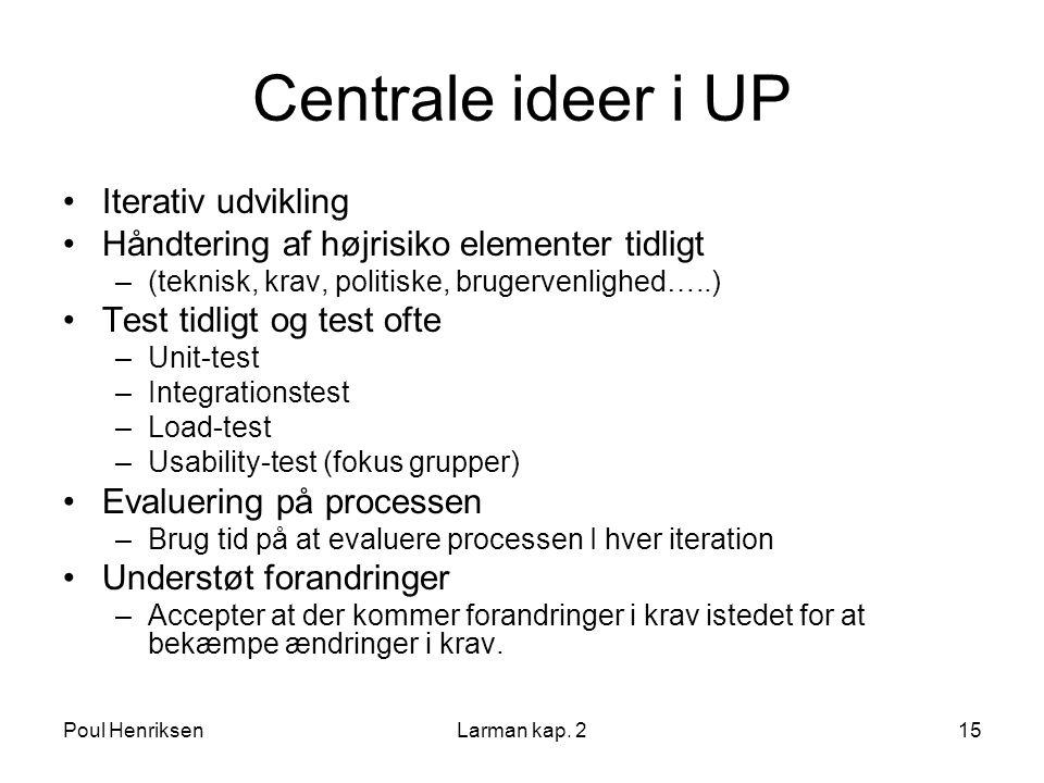 Centrale ideer i UP Iterativ udvikling