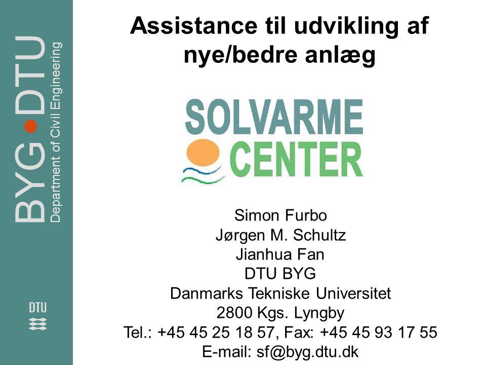 Assistance til udvikling af nye/bedre anlæg