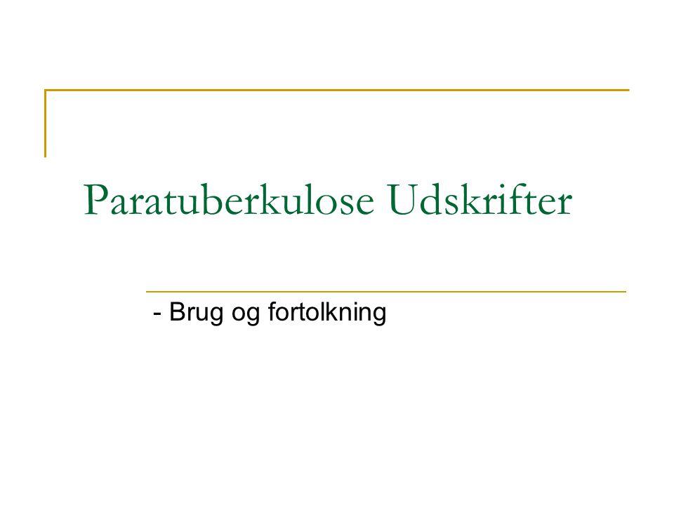 Paratuberkulose Udskrifter