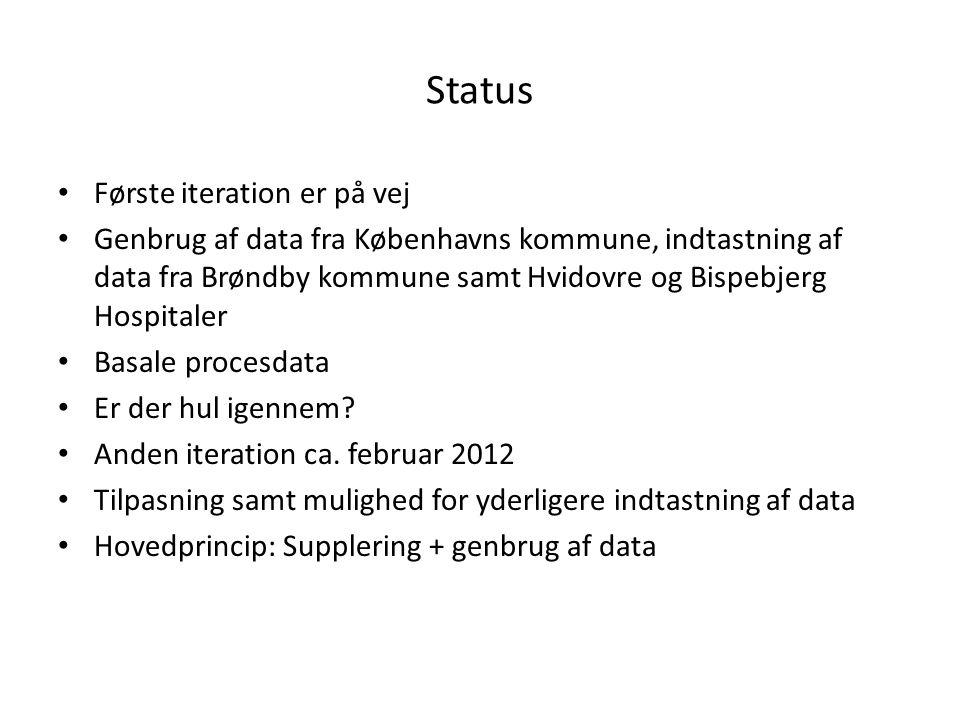 Status Første iteration er på vej