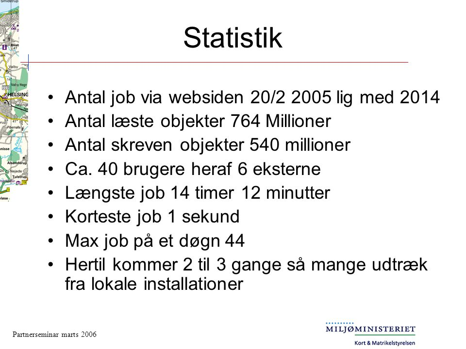 Statistik Antal job via websiden 20/2 2005 lig med 2014