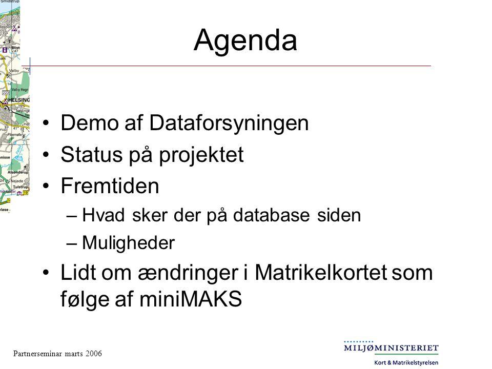 Agenda Demo af Dataforsyningen Status på projektet Fremtiden
