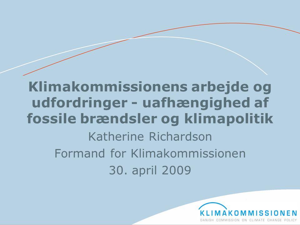 Katherine Richardson Formand for Klimakommissionen 30. april 2009
