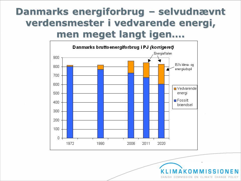 Danmarks energiforbrug – selvudnævnt verdensmester i vedvarende energi, men meget langt igen….