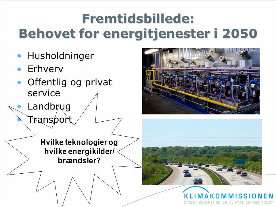Fremtidsbillede: Behovet for energitjenester i 2050