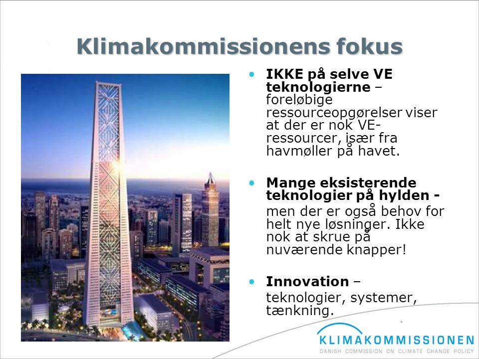 Klimakommissionens fokus