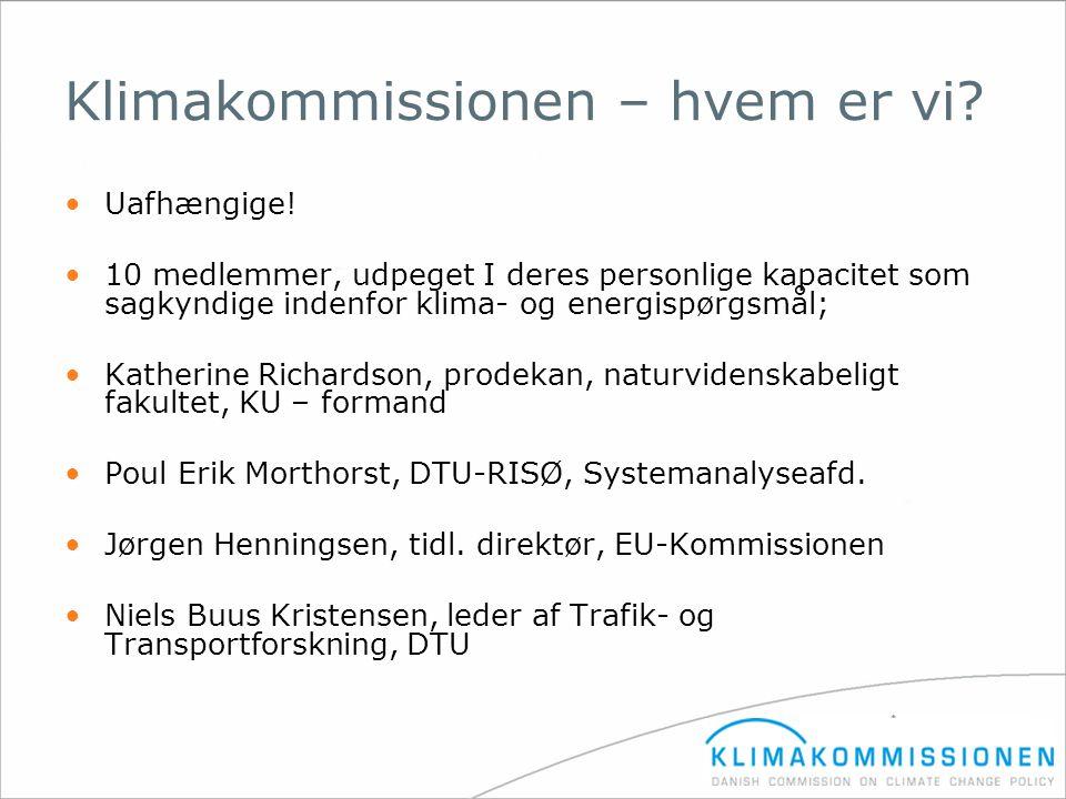 Klimakommissionen – hvem er vi