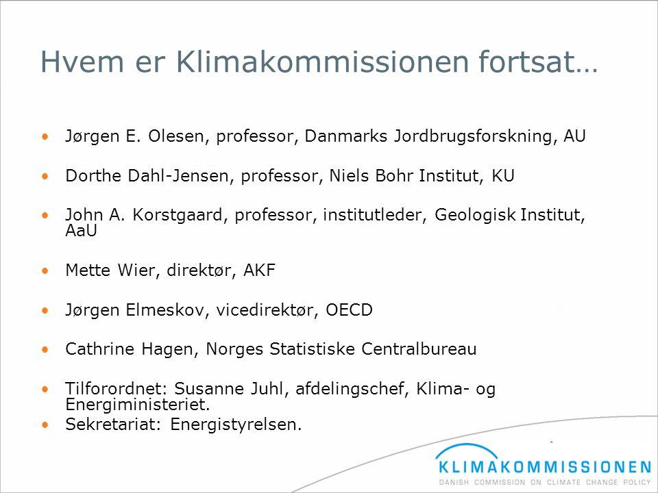 Hvem er Klimakommissionen fortsat…