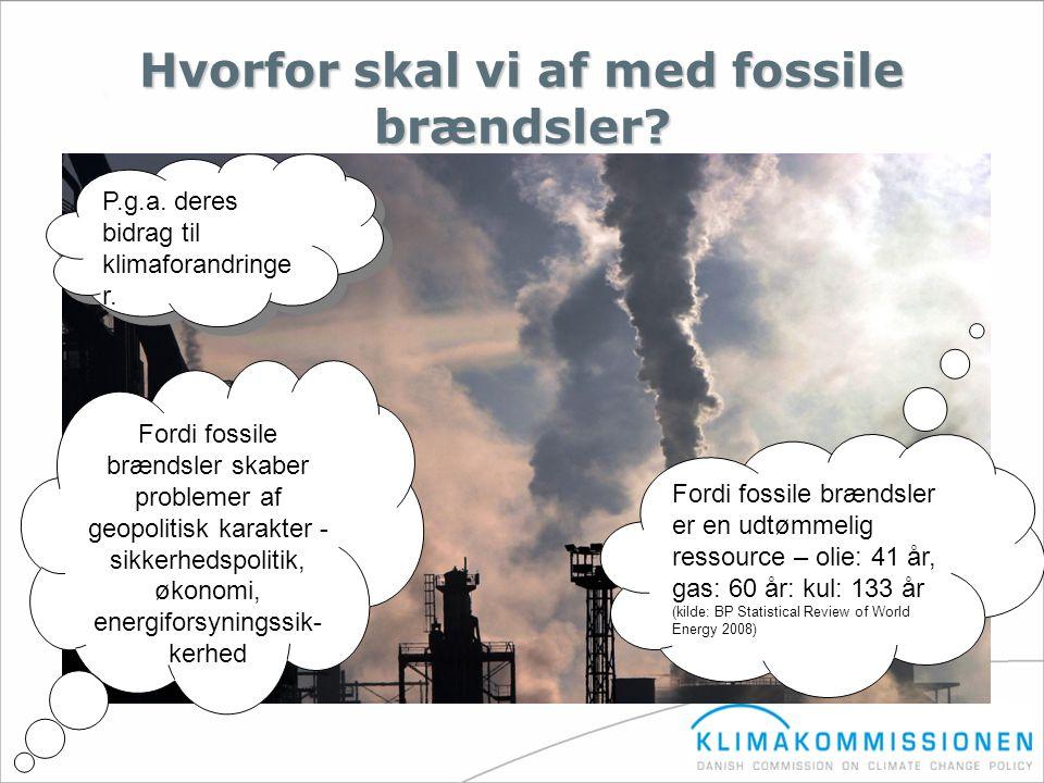 Hvorfor skal vi af med fossile brændsler