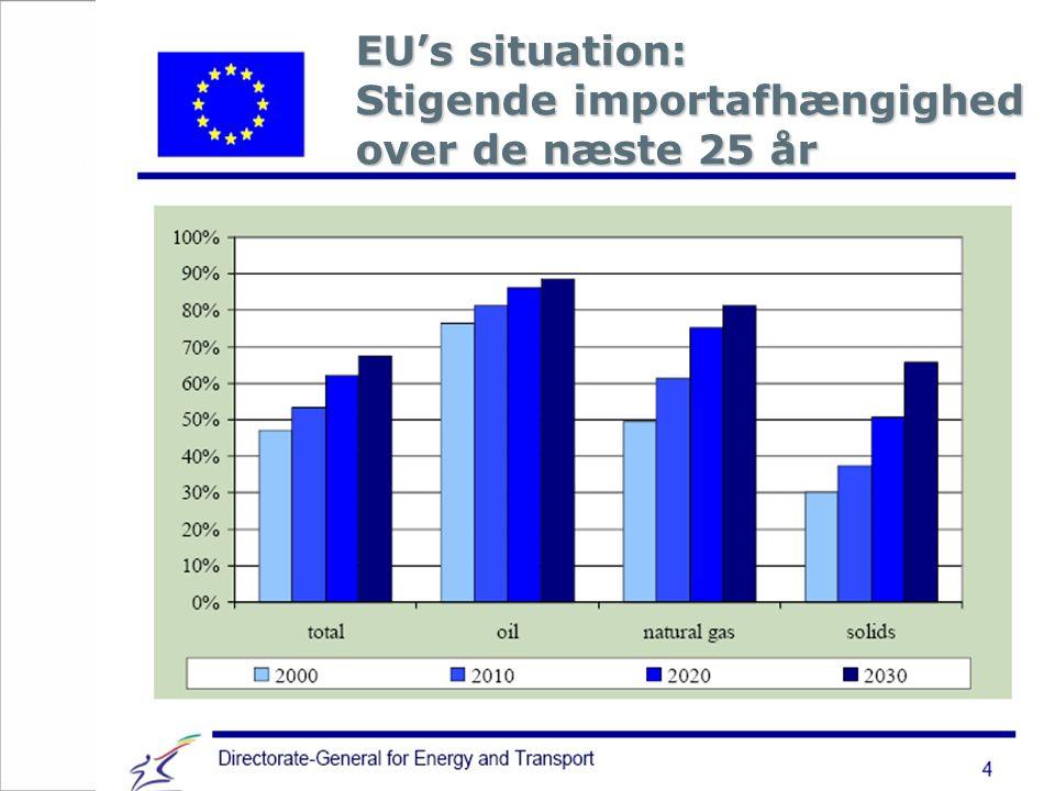 EU's situation: Stigende importafhængighed over de næste 25 år