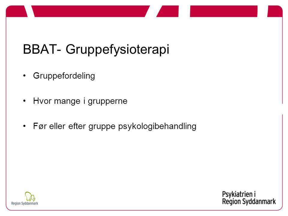 BBAT- Gruppefysioterapi