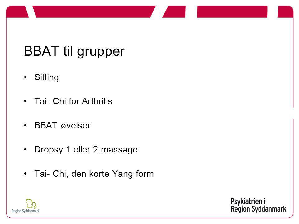 BBAT til grupper Sitting Tai- Chi for Arthritis BBAT øvelser