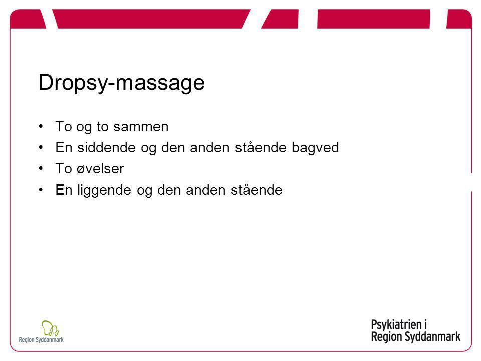 Dropsy-massage To og to sammen En siddende og den anden stående bagved