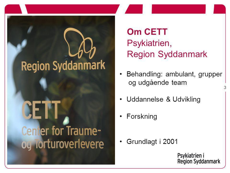 Om CETT Psykiatrien, Region Syddanmark