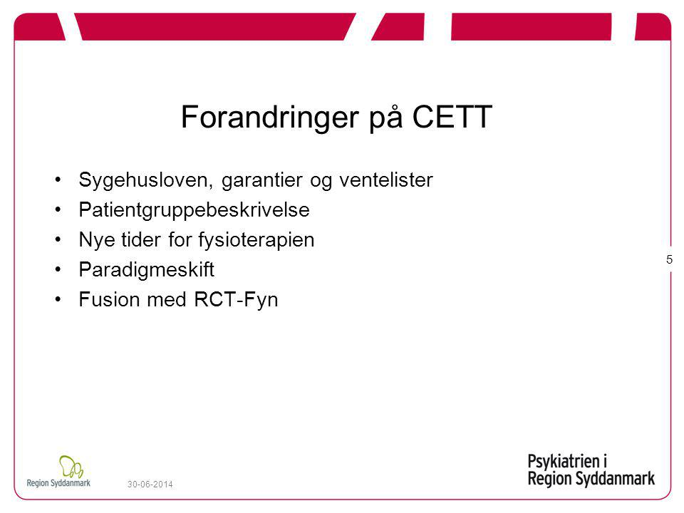 Forandringer på CETT Sygehusloven, garantier og ventelister