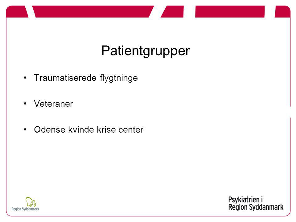 Patientgrupper Traumatiserede flygtninge Veteraner