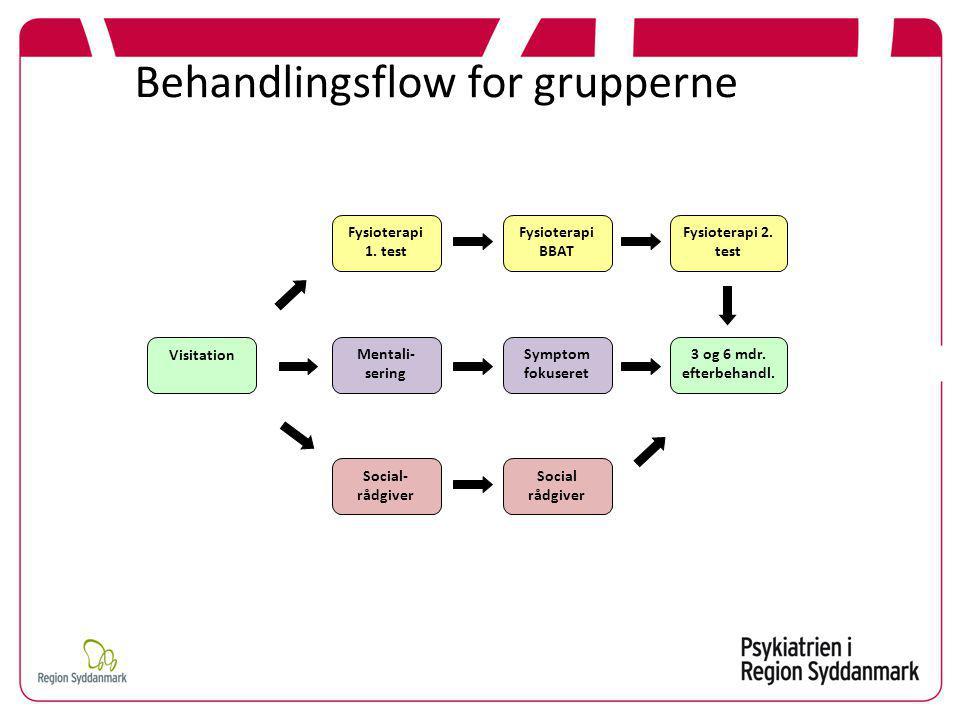 Behandlingsflow for grupperne