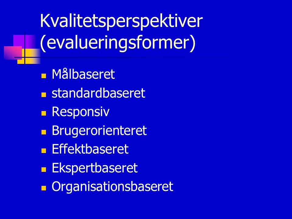Kvalitetsperspektiver (evalueringsformer)