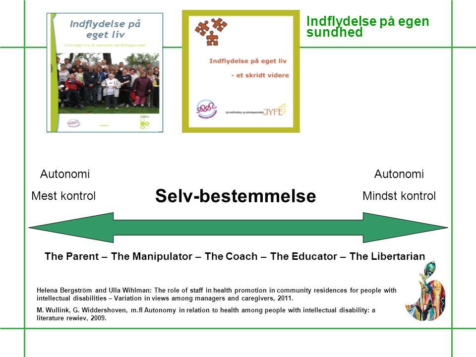 Selv-bestemmelse Autonomi Mest kontrol Autonomi Mindst kontrol