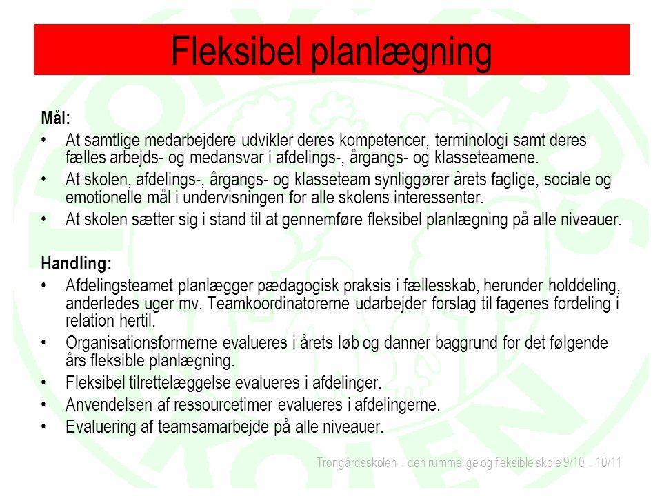 Fleksibel planlægning