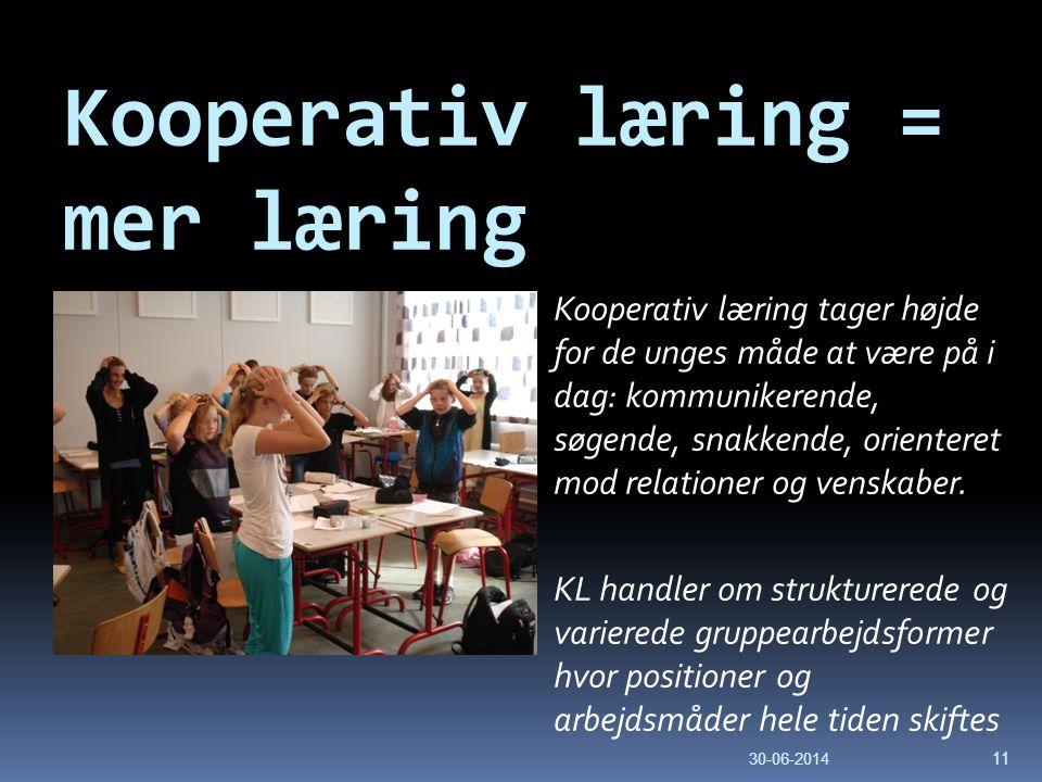 Kooperativ læring = mer læring
