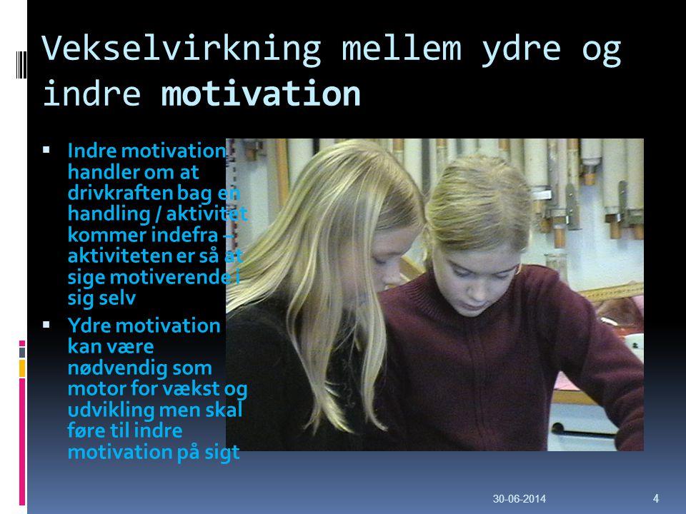 Vekselvirkning mellem ydre og indre motivation