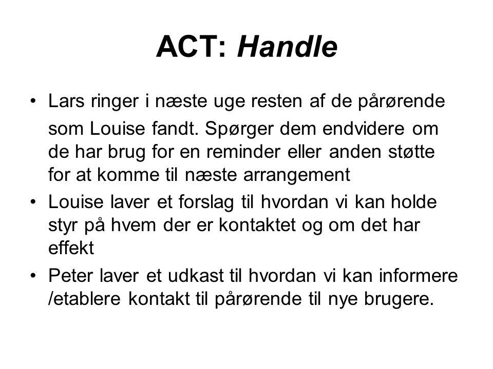 ACT: Handle Lars ringer i næste uge resten af de pårørende
