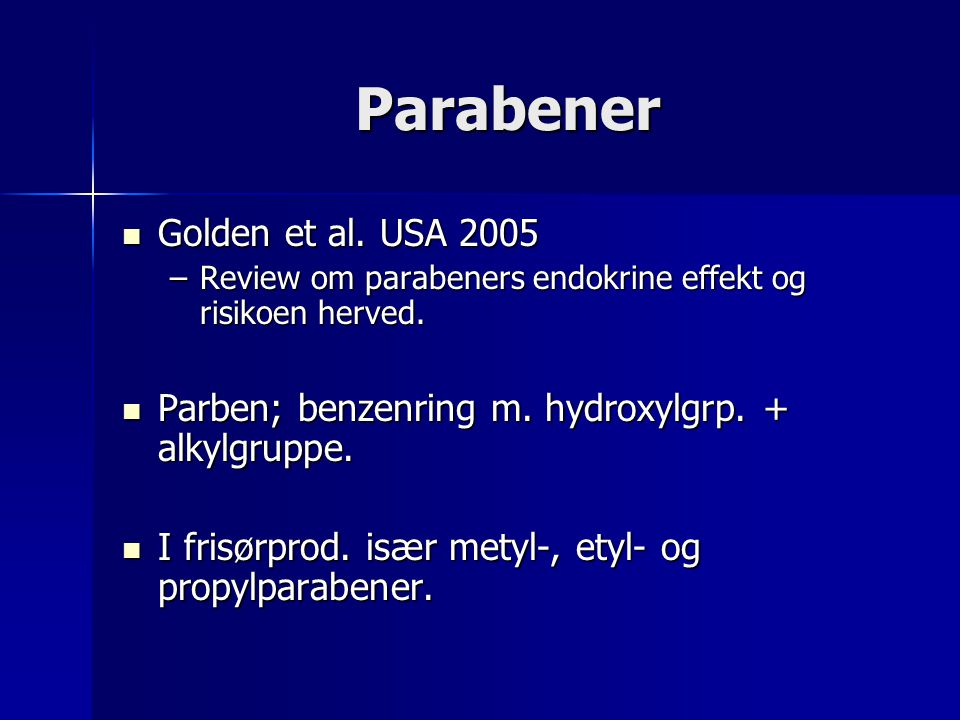 Parabener Golden et al. USA 2005