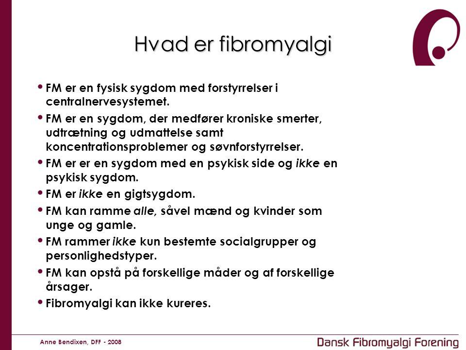 Hvad er fibromyalgi FM er en fysisk sygdom med forstyrrelser i centralnervesystemet.