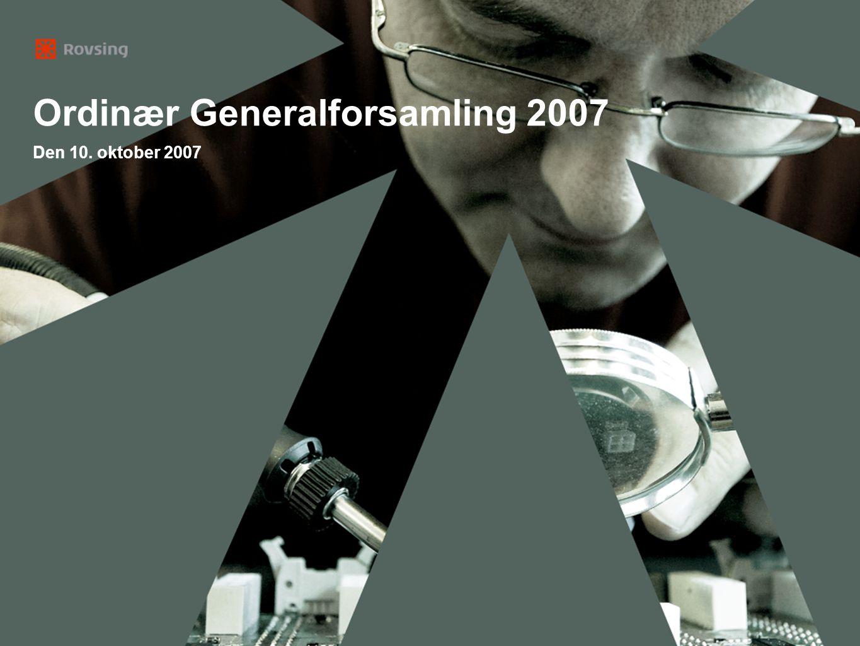 Ordinær Generalforsamling 2007