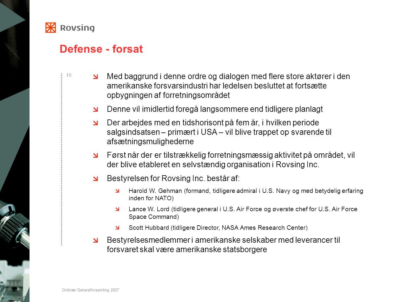Defense - forsat