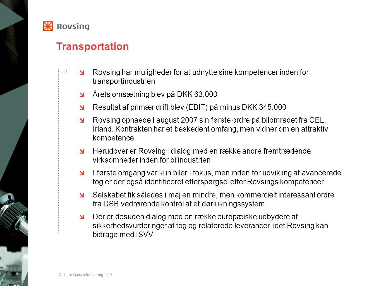 Transportation Rovsing har muligheder for at udnytte sine kompetencer inden for transportindustrien.