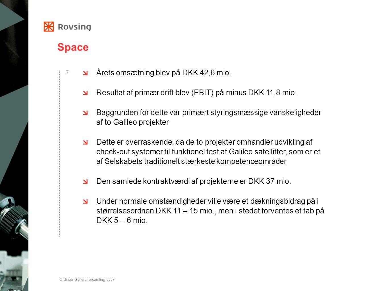 Space Årets omsætning blev på DKK 42,6 mio.
