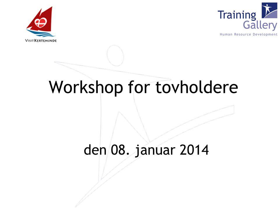 Workshop for tovholdere den 08. januar 2014