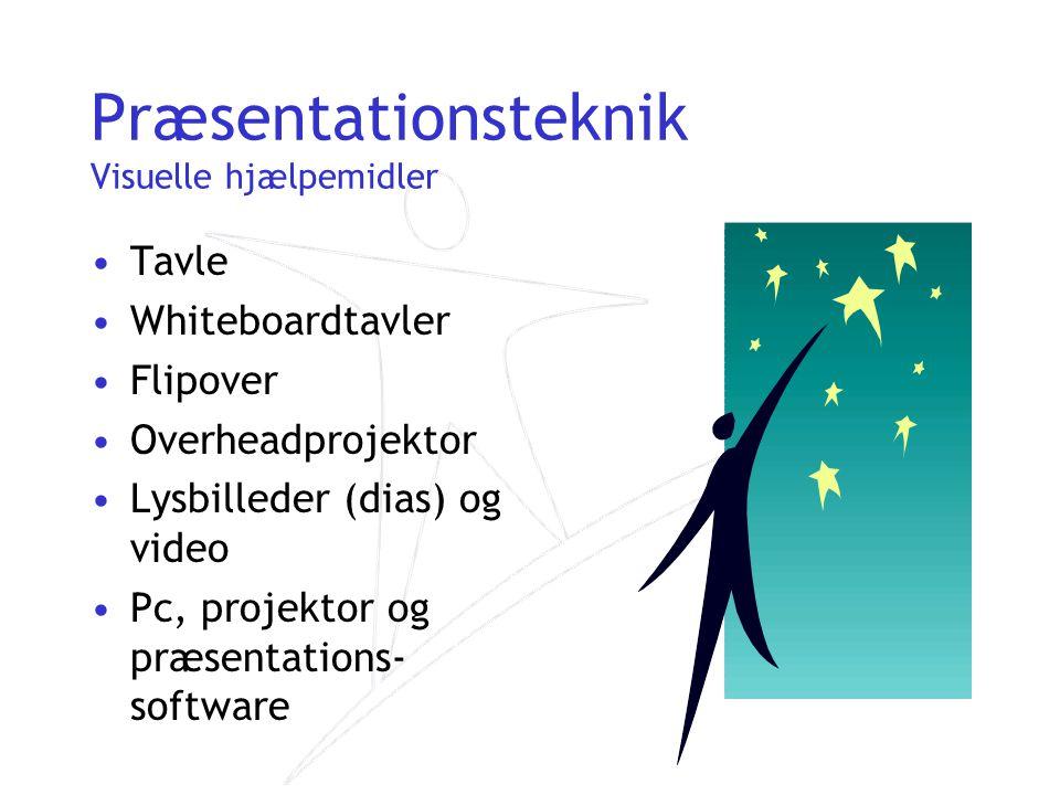 Præsentationsteknik Visuelle hjælpemidler