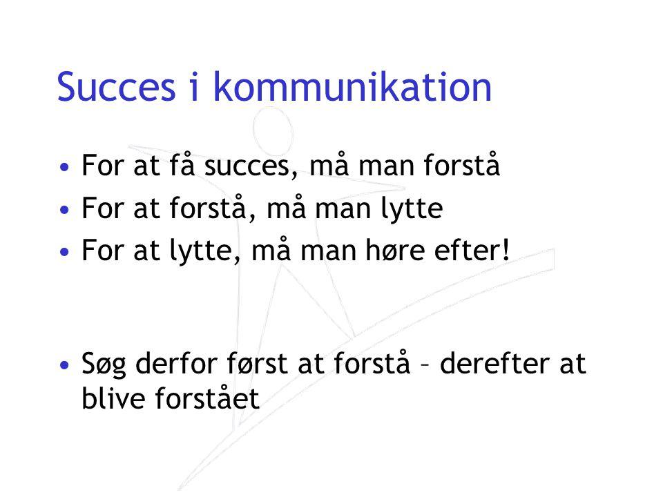 Succes i kommunikation