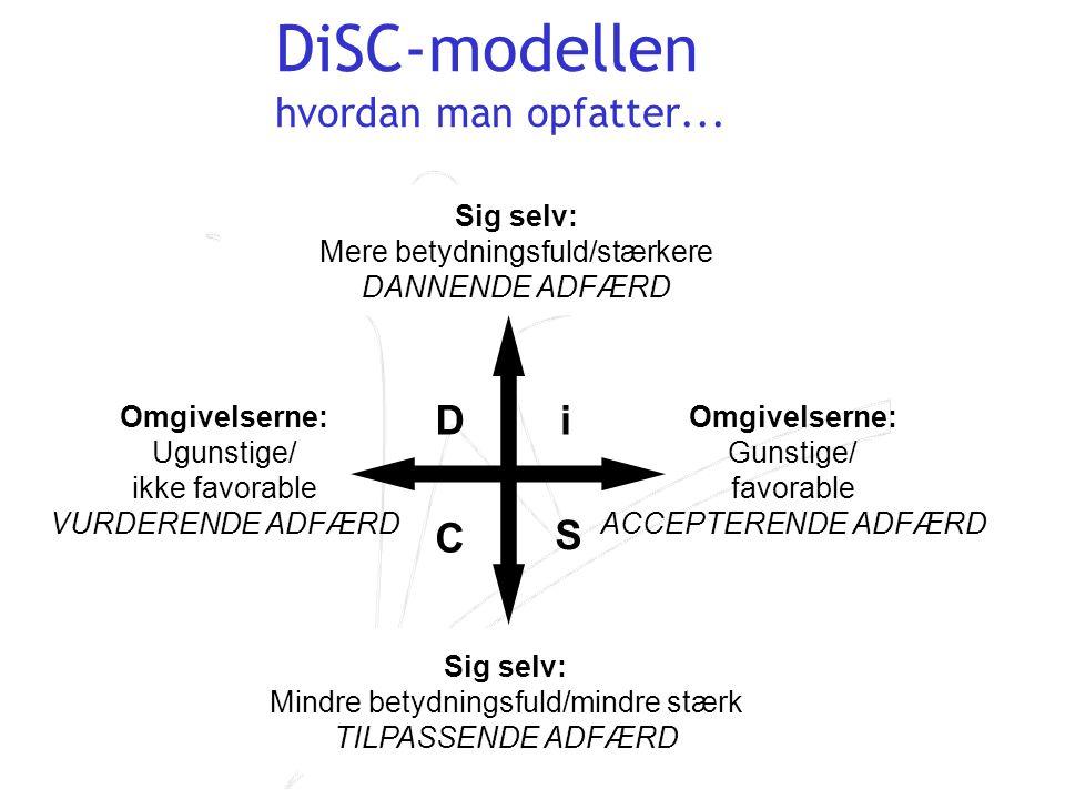 DiSC-modellen hvordan man opfatter...