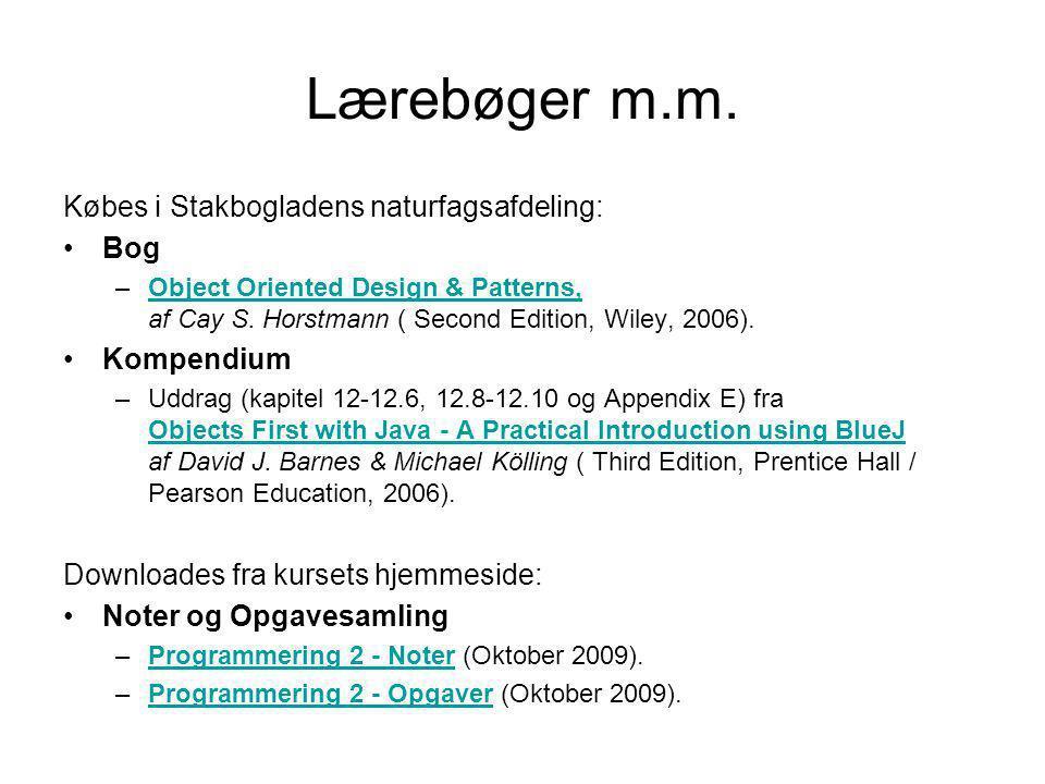 Lærebøger m.m. Købes i Stakbogladens naturfagsafdeling: Bog Kompendium