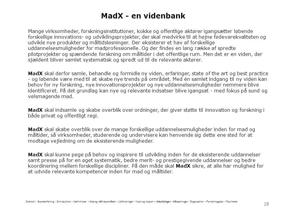 MadX - en videnbank