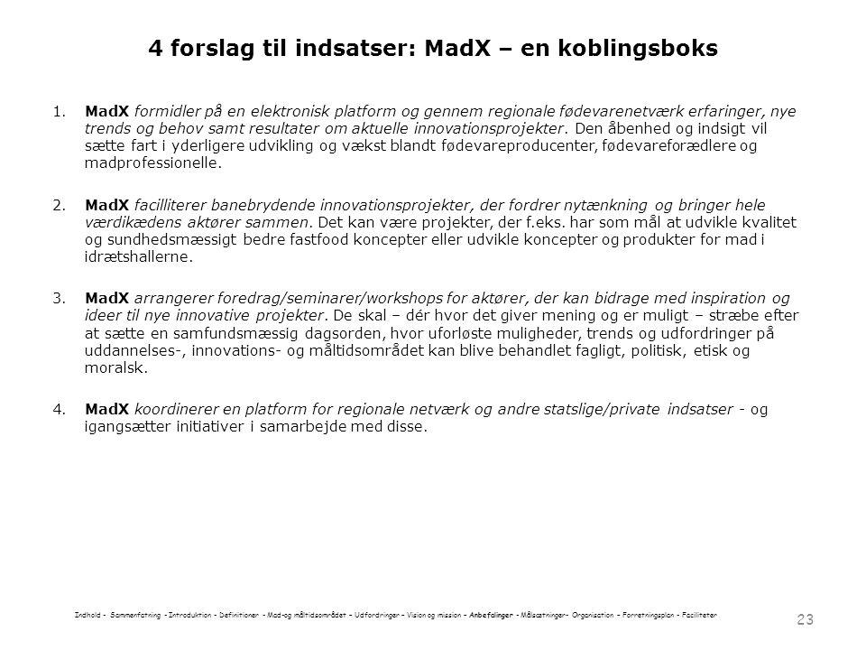 4 forslag til indsatser: MadX – en koblingsboks