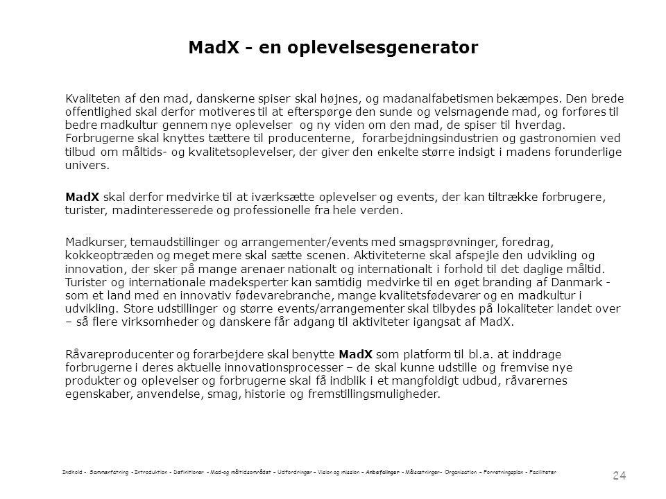 MadX - en oplevelsesgenerator