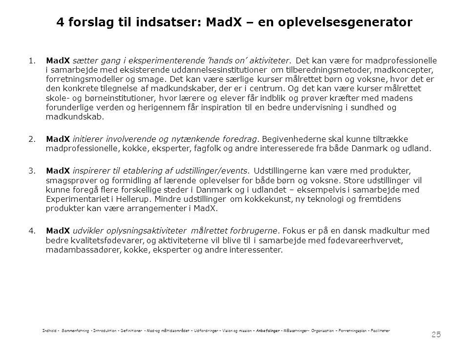 4 forslag til indsatser: MadX – en oplevelsesgenerator