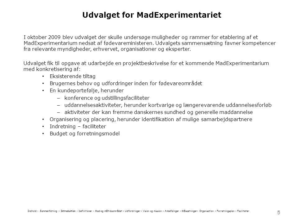 Udvalget for MadExperimentariet