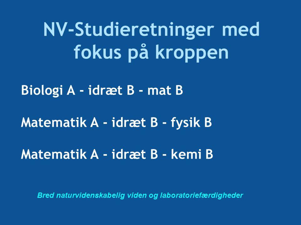 NV-Studieretninger med fokus på kroppen