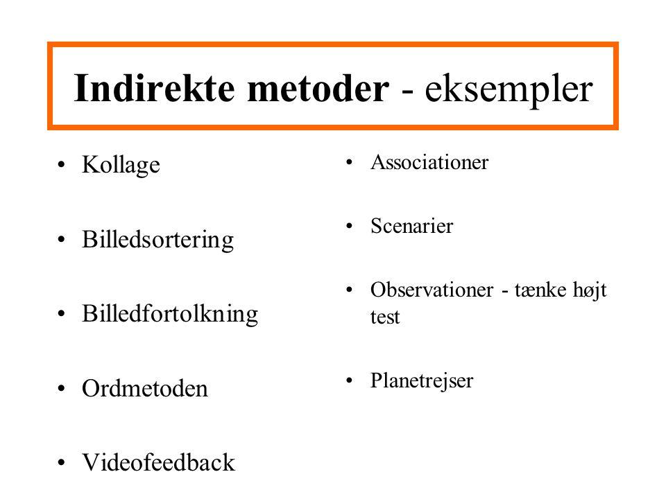 Indirekte metoder - eksempler
