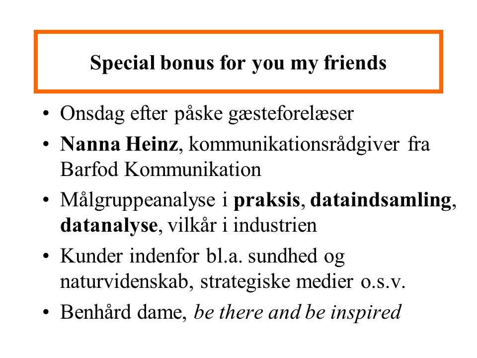 Special bonus for you my friends