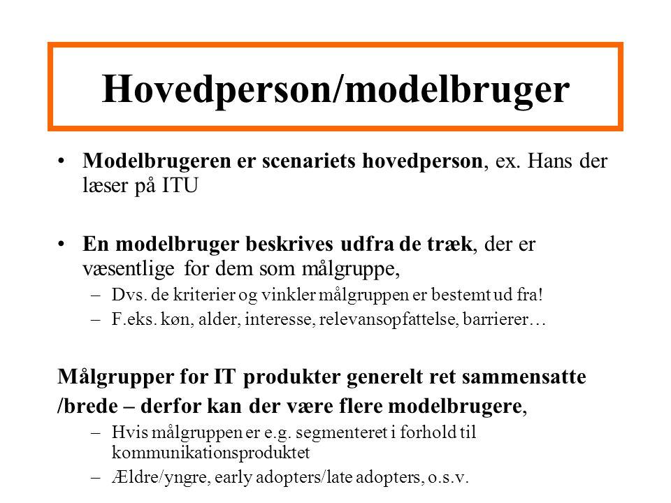 Hovedperson/modelbruger