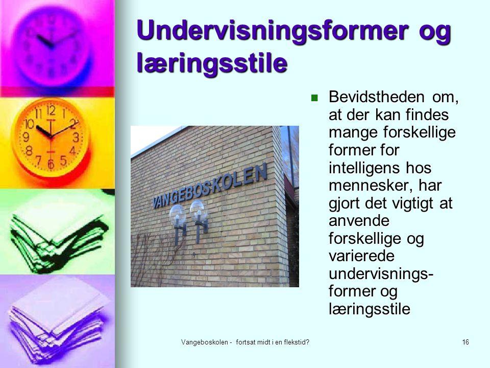 Undervisningsformer og læringsstile
