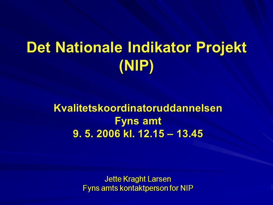 Det Nationale Indikator Projekt (NIP)