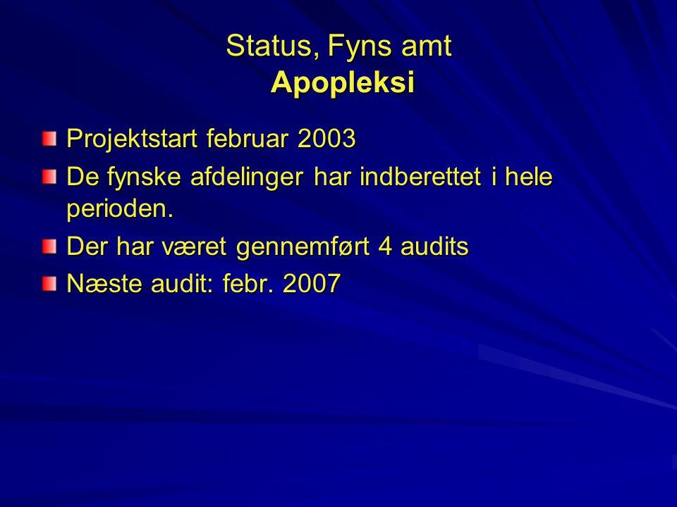 Status, Fyns amt Apopleksi